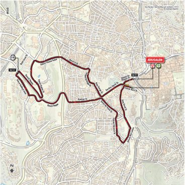Stage 1: Jerusalem ITT – Map