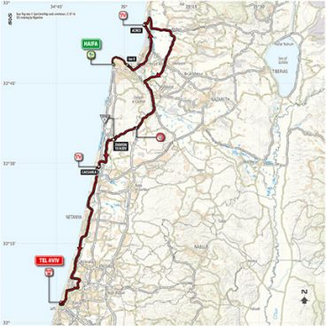 Stage 2: Haifa – Tel Aviv – Map
