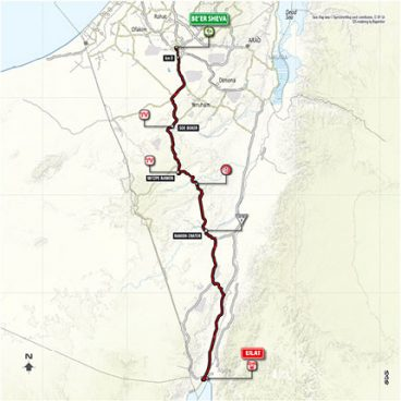 Stage 3: Beer Sheva - Eilat – Map