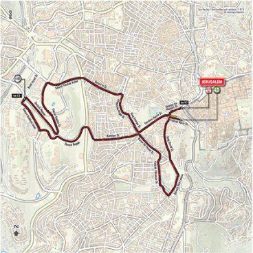 Stage 1: Jerusalem ITT – Map