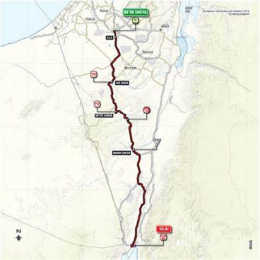 Stage 3: Beer Sheva - Eilat – Map